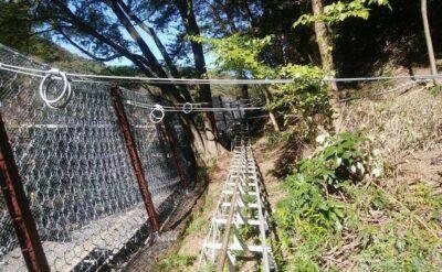 東京都 落石防護ネットフェンス工事